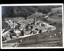 RHEINFELDEN (SUISSE) BRASSERIE / BRAUEREI FELDSCHLOSSCHEN vue aérienne en 1934