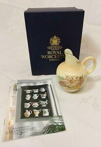 Royal Worcester 250th Anniversary Historical Jug Blush Ivory Flat Back c1900