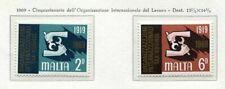 37459) Malte 1969 MNH I. L. O.2v