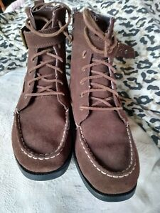 SPERRY high TOP - STARPOINT suede - size 6.5 M / 39.5  EUR ankle buckle - EUC