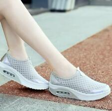 Women Slip on Platform Toning Shoes Shape Up Fitness Gym Sports Walking Sneakers