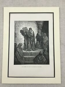 Ezra The Prophet Hebrew Jewish Bible Antique Engraving Print 1870