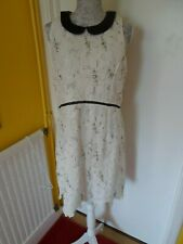 Exquisite Embellished  beaded lace white river island dress size 16