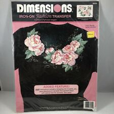 NIP Dimensions #80052 Iron-On Fashion Transfer Flower Pink Apply Art & Craft