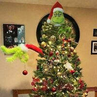 Grinch Stole Christmas Decor Furry Green Grinch Arm Ornament Holder Tree DIY Set