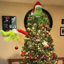 Grinch Stole Christmas Decor Furry Green Grinch Arm Ornament Holder Tree DIY Set