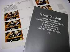 Mercedes Prospekt über PKW Sicherheitssysteme 07/1982 !