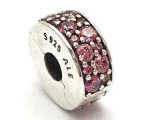 Authentic Pandora Shining Elegance Honeysuckle Pink CZ Clip Charm 791817HCZ New