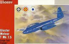 Gloster Meteor T Mk 7.5 T Large Tail Trainer RAE Israel Modell-Bausatz 1:72 kit