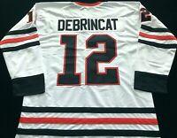 Alex DeBrincat White Hockey Jersey, Chicago Blackhawks Great, Size XL