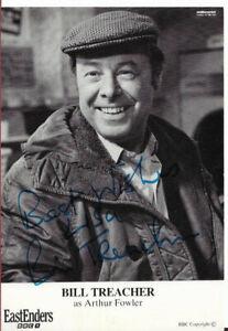 BILL TREACHER - Arthur Fowler in EastEnders (1985-1996) Signed pic