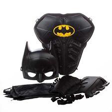 Kids Boy Superhero Batman Cosplay Costume Mask Cloak Arm Guard Birthday Party