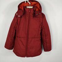 BOYS GIRLS KIDS KENZO JUNGLE RED HOODED COAT JACKET KIDS AGE 10 YRS