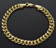 "Mens 8mm 14k Real Yellow Gold Miami Cuban Curb Chain Bracelet. 8.5"" 16gr"