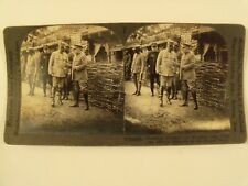 """WW1 """"PRESIDENT POINCARE & MARSHALL JOFFRE SOMME FRONT"""" KEYSTONE STEREOVIEW 18826"""