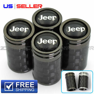 4 Pack Jeep Tire Valve Stem Caps Black Air Dust Valve Covers Universal fit Jeep,Jeep Wrangler,Jeep Compass,Jeep Cherokee,Jeep Renegade,Jeep Grand Cherokee and Other Vehicle Models