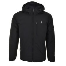 Men's Black Polo Ralph Lauren Thorpe Anorak Jacket Coat Duck Down Black -Small