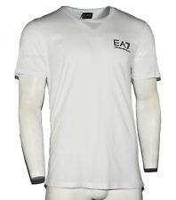 Men's Armani Jeans T-Shirt Fashion Pattern Crew Neck White - Size S M L XL XXL