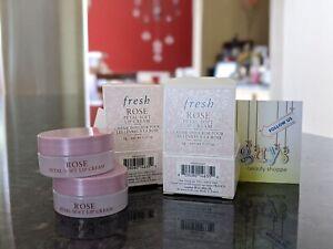 2 x FRESH Rose Petal-Soft Lip Cream Deep Hydration Lip Balm 2g/.07oz Travel BNIB