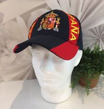 WST Espana Embroidered Souvenir Hat Mens Blue Red Cotton Blend OS NWOT