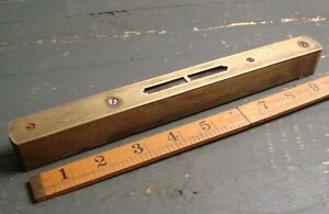 """Vintage HOCKLEY ABBEY 10"""" Spirit Level ~ Warranted Correct No 1622 ~ Old Tool"""
