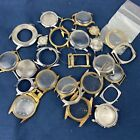 Watch Parts Pieces Frames Lot of 26 Steampunk Crafts Art For Parts Only