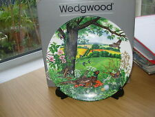 WEDGWOOD COLLECTORS  PLATE MEADOWS & WHEATFIELDS COUNTRY PANORAMA COLLECTION 64