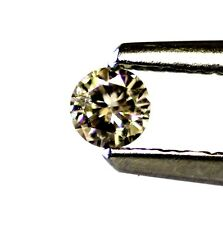 loose .11ct SI2 K round diamond 3.24x1.74mm brown vintage estate antique
