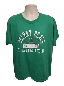 Delray Beach Florida 11 Adult Large Green TShirt