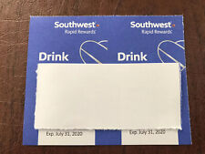 Southwest airlines drink coupons (2) Exp 7/31/20
