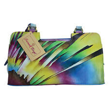 Swank Bags Hand-Made and Painted Abstract Sun Leather Handbag SB051-2