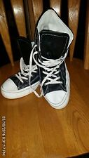 CONVERSE ALL STAR CHUCK TAYLOR LEATHER HI BLACK/WHITE CLASSIC US UNISEX