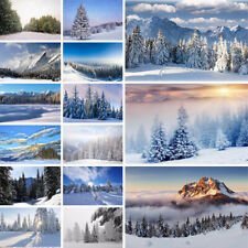 Winter Snow Forest Background Cloth Photography Backdrop Prints Decor Christmas