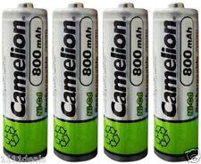4 Camelion AA Ni-CD 800mAh 1.2V Rechargeable Solar Batteries