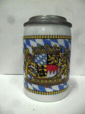 Chope à bière au blason avec couvercle au blason du BAYERN
