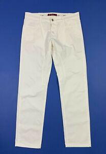 Siviglia pantalone uomo usato slim bianco W36 tg 50 stretch boyfriend T5620