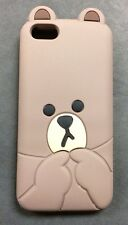**CUTE, ADORABLE, & SHY 3D TEDDY BEAR THICK SILICONE IPHONE 5/5S CASE IN BROWN**