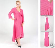 NEW!  Zaftique DUAL LAYER DRESS Hot PINK (Only One!) 2Z / 20 / 2X