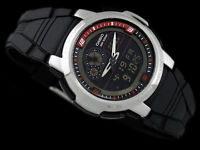 Casio AQF-102W-1 Outgear THERMOMETER Watch 100M WR World Time 50 Lap Memory New