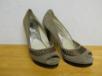 Michael Kors New Display Model Womens Zamara Open Toe Taupe Heels 9 M Shoes NWOB