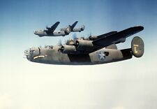 COLOR WWII Photo B-24 Liberator Bombers WW2 World War Two US Army Air  / 5021