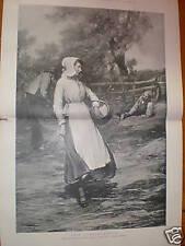 Love Lightens Labour J Michael Brown rural print 1896
