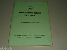 Betriebsanleitung Mercedes Benz W121 Ponton 190 b 190b Stand 07/1959