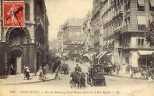 PARIS Rue du Faubourg Saint-Honoré prise de la Rue Royale