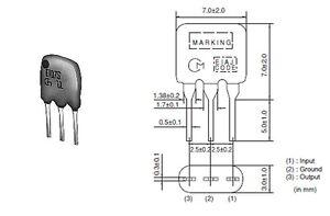 PACK OF 10 - MURATA 10.7MHz 2 ELEMENT CERAMIC FILTER 'CERAFIL' 110KHz BANDWIDTH