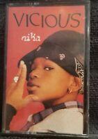 NIKA - VICIOUS CASSETTE TAPE MAXI-SINGLE 4 TRACK VERSIONS rare rap hip hop 1994
