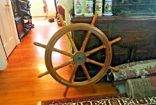 Ship's Wooden & Brass Steering - Helm - Large - Ship'S Original