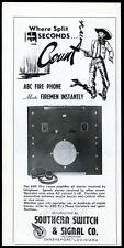 1946 Southern Switch ABC Fire Phone alarm amplifier photo vintage trade print ad