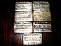(1) Rare Vintage 10 Ounce ENGELHARD .999+ Fine Silver Bar 10oz. Poured Bar