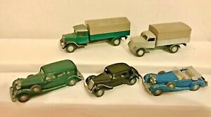 Wiking Horch 850, Mercedes 540, Citroen 15 Six, 2 Covered Trucks 3350/3420. 1/87
